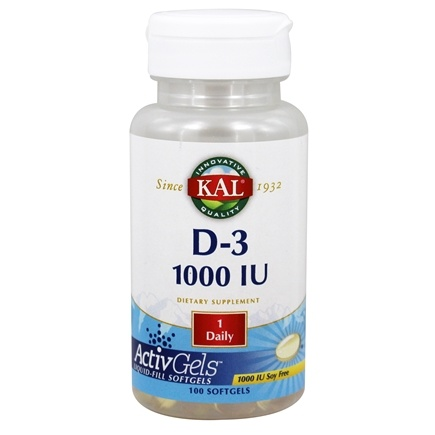 Kal - Vitamin D-3 1000 IU - 100 Softgels