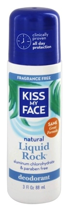 Kiss My Face - Liquid Rock Roll-On Deodorant Fragrance Free - 3 oz.