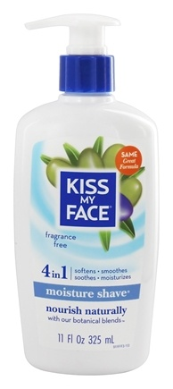 Kiss My Face - Moisture Shave Fragrance Free - 11 oz.