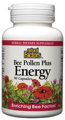 DROPPED: Natural Factors - Bee Pollen Plus Energy - 90 Capsules