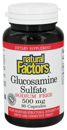 DROPPED: Natural Factors - Glucosamine Sulfate Sodium Free 500 mg. - 90 Capsules