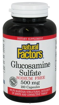 DROPPED: Natural Factors - Glucosamine Sulfate Sodium Free 500 mg. - 180 Capsules