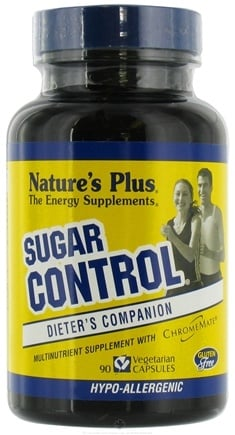 DROPPED: Nature's Plus - Sugar Control Sugar Craver's Formula - 90 Vegetarian Capsules CLEARANCE PRICED