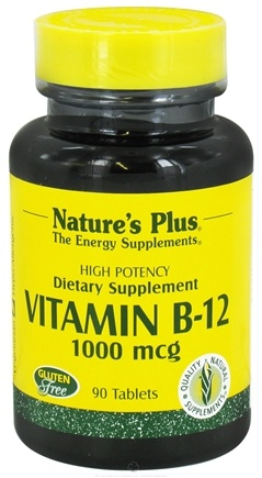DROPPED: Nature's Plus - Vitamin B-12 1000 mcg. - 90 Tablets