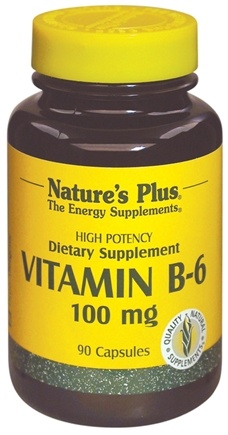 DROPPED: Nature's Plus - Vitamin B-6 100 mg. - 90 Vegetarian Capsules