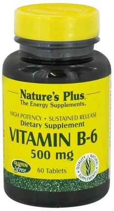 Nature's Plus - Vitamin B-6 Sustained Release 500 mg. - 60 Tablets
