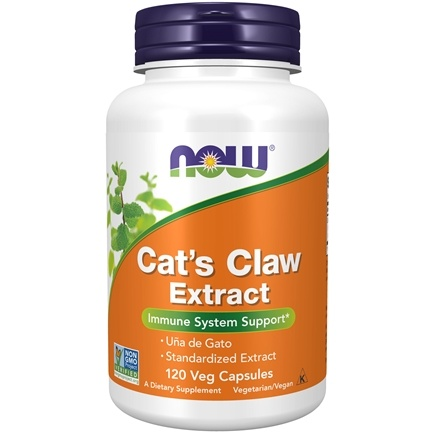 "NOW Foods - Cat's Claw Extract 10:1 Concentrate/1.5% Standardized Extract - 120 Vegetarian Capsules (formerly Cat's Claw ""5000"")"