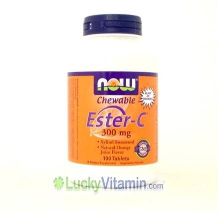 DROPPED: NOW Foods - Ester-C 300 mg. - 100 Lozenges