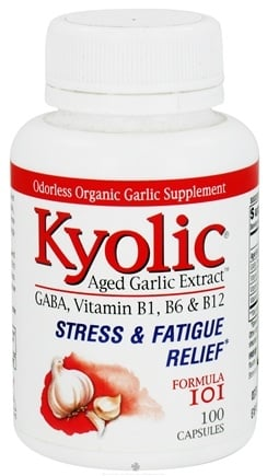 DROPPED: Kyolic - Formula 101 Aged Garlic Extract Stress & Fatigue Relief - 100 Capsules Formerly Brewer's Yeast