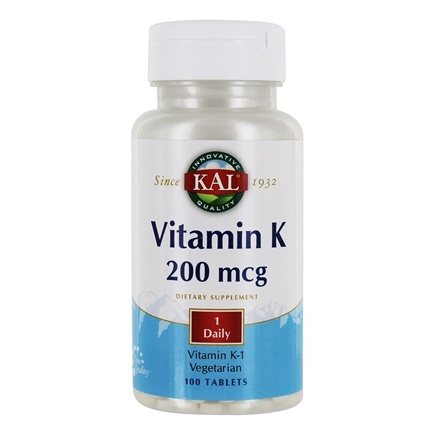 Kal - Vitamin K 200 mcg. - 100 Tablets