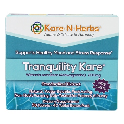 DROPPED: Kare-N-Herbs - Tranquility Kare - 40 Tablets CLEARANCE PRICED