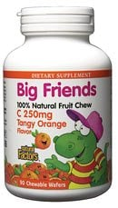 DROPPED: Natural Factors - Big Friends Chewable Vitamin C Tangy Orange Flavor - 30 Chewable Wafers