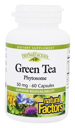 DROPPED: Natural Factors - Green Tea Phytosome Enhanced Absorption 50 mg. - 60 Capsules