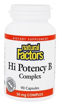 Natural Factors - Hi Potency B Complex - 90 Capsules