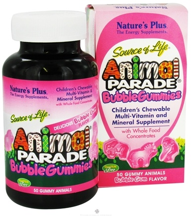 DROPPED: Nature's Plus - Source of Life Animal Parade Gummies Bubble Gum - 50 Gummies