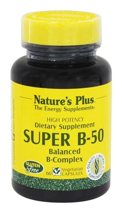 Nature's Plus - Super B-50 Balanced B Complex - 60 Vegetarian Capsules
