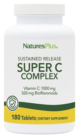 Nature's Plus - Super C Complex Sustained Release 1000 mg. - 180 Tablets