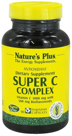 DROPPED: Nature's Plus - Super C Complex Antioxidant - 90 Vegetarian Capsules CLEARANCE PRICED