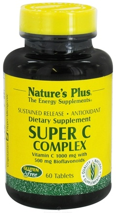 DROPPED: Nature's Plus - Super C Complex Sustained Release - 60 Tablets CLEARANCE PRICED