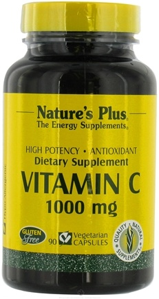 DROPPED: Nature's Plus - Vitamin C 1000 mg. - 90 Vegetarian Capsules
