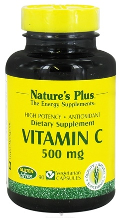 Nature's Plus - Vitamin C 500 mg. - 90 Vegetarian Capsules