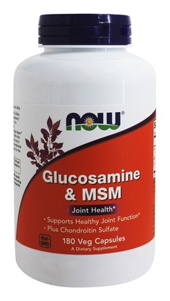 NOW Foods - Glucosamine and MSM 750/250Mg - 180 Capsules