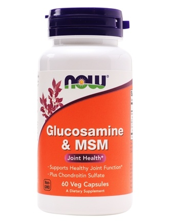 DROPPED: NOW Foods - Glucosamine and MSM 750/250 mg - 60 Capsules CLEARANCE PRICED