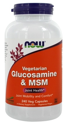 NOW Foods - Glucosamine and MSM - 240 Vegetarian Capsules