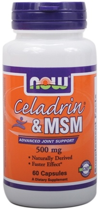 DROPPED: NOW Foods - Celadrin & MSM Advanced Joint Support 500 mg. - 60 Capsules