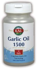 DROPPED: Kal - Garlic Oil 1500 - 100 Softgels