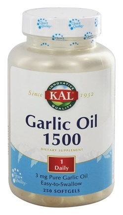 DROPPED: Kal - Garlic Oil 1500 - 250 Softgels