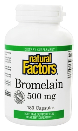 Natural Factors - Bromelain 500 mg. - 180 Capsules