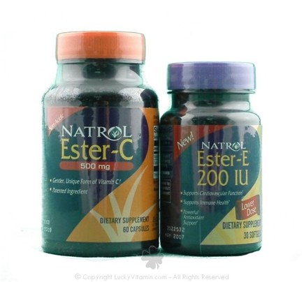 DROPPED: Natrol - Ester-C 500 mg (Not as pictured, No Ester E included) - 60 Capsules