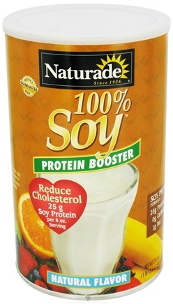 DROPPED: Naturade - 100% Soy Protein Booster Natural Flavor - 29.6 oz. CLEARANCE PRICED