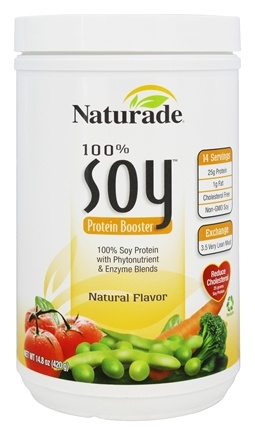DROPPED: Naturade - 100% Soy Protein Booster Natural Flavor - 14.8 oz. CLEARANCE PRICED