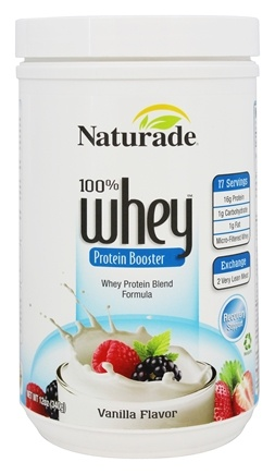DROPPED: Naturade - 100% Whey Protein Booster High Energy Performance Vanilla Flavor - 12 oz. CLEARANCE PRICED
