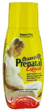 DROPPED: Nature's Plus - Liquilicious Source Of Life Prenatal Liquid Tropical Fruit - 8 oz. CLEARANCE PRICED