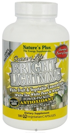 DROPPED: Nature's Plus - Source of Life Bright Lightning CLEARANCE PRICED - 180 Vegetarian Capsules