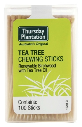 DROPPED: Thursday Plantation - The Original Australian Tea Tree Chewing Sticks - 100 Stick(s)