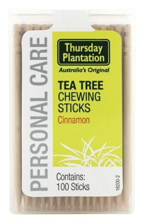 DROPPED: Thursday Plantation - The Original Australian Tea Tree Chewing Sticks (Toothpicks) Cinnamon Flavor - 100 Stick(s)
