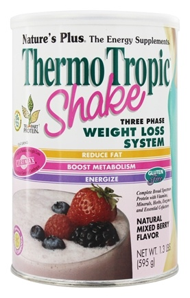 Nature's Plus - Thermo Tropic Shake Three Phase Weight Loss System Mixed Berry Flavor - 1 lb.