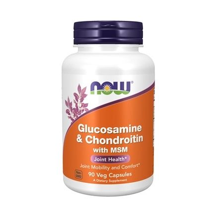 NOW Foods - Glucosamine 500/Chondroitin 400 Plus MSM - 90 Capsules