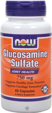 DROPPED: NOW Foods - Glucosamine Sulfate (Superior Joint Support) 750 mg. - 60 Capsules