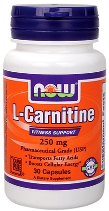 DROPPED: NOW Foods - L-Carnitine 250 mg. - 30 Capsules