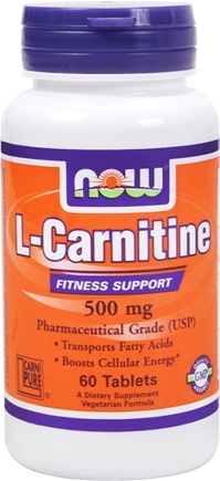 DROPPED: NOW Foods - L-Carnitine 500 mg. - 60 Tablets