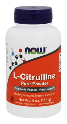 NOW Foods - L-Citrulline Pure Powder - 4 oz.