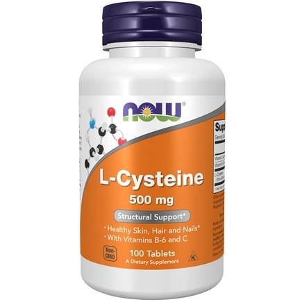 NOW Foods - L-Cysteine 500 mg. - 100 Tablets
