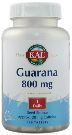 DROPPED: Kal - Guarana 800 mg. - 120 Tablets