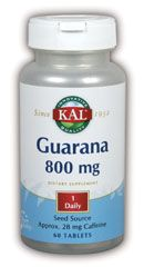 DROPPED: Kal - Guarana 800 mg. - 60 Tablets