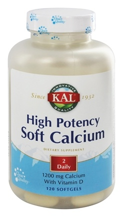 Kal - High Potency Soft Calcium 1200 mg. - 120 Softgels
